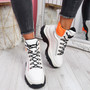 Jarra White High Top Ankle Trainers