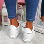 Liva All White Wedge Trainers