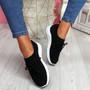 Mizze Black Knit Sneakers