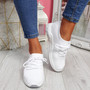 Mizze White Knit Sneakers