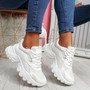 Movy White Pu Chunky Trainers