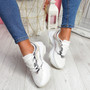 Eveny White Chunky Sneakers