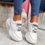 Eveny White Pink Chunky Sneakers