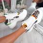 Gylo White Leopard Chunky Trainers