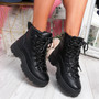 Poppa Black Ankle Boots