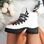 Poppa White Ankle Boots
