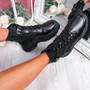 Hille Black Zip Ankle Boots