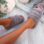 Onso Grey Fluffy Sliders