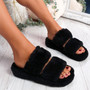 Lobi Black Fluffy Sandals