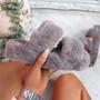 Lobi Grey Fluffy Sandals