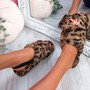 Ponna Leopard Fluffy Sandals