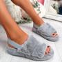 Ponna Light Grey Fluffy Sandals