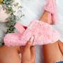 Ponna Pink Fluffy Sandals