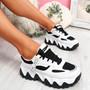 Buvy White Black Chunky Sneakers