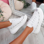 Jimma White Lace Up Trainers