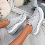 Jimma Grey Lace Up Trainers