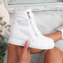 Itta White High Top Trainers