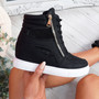 Itta Black High Top Trainers