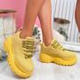 Ronne Yellow Flatform Boots
