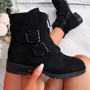 Munno Black Zip Ankle Boots