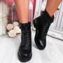 Noje Black Zip Ankle Boots