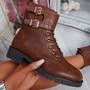 Korra Camel Zip Ankle Boots