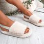 Namma Apricot Fluffy Sandals