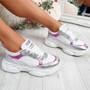 Buppo Silver Glitter Chunky Trainers