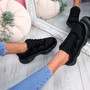 Hurra Black Wide Fit Trainers