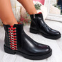Vory Black Zip Ankle Boots
