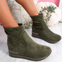 Sirre Green Slip On Ankle Boots