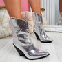 Teea Silver High Top Slough Boots
