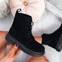 Fya Black Lace Up Ankle Boots