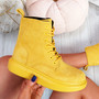 Fya Yellow Lace Up Ankle Boots