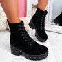 Dyzze Black Suede Studded Ankle Boots