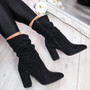 Bezza Black High Top Ankle Boots