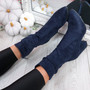 Bezza Blue High Top Ankle Boots