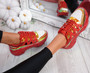 Denno Red Glitter Chunky Sneakers