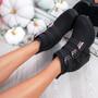 Dacy Black Block Heel Ankle Boots