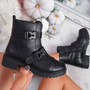 Lova Black Zip Ankle Boots