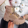 Hilla Beige Sand Ankle Boots