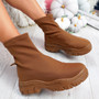 Kerry Camel Sock Sneakers Trainers