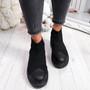 Zenny All Black Sock Platform Trainers