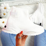 Hessya White Sock Sneakers