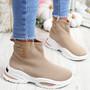 Hessya Khaki Sock Sneakers
