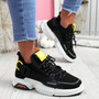Loppo Black Knit Chunky Sneakers