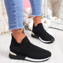 Ritty Black White Knit Sport Trainers