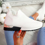 Ritty White Knit Sport Trainers