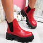 Nitty Red Chelsea Ankle Boots