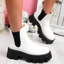 Nitty White Chelsea Ankle Boots